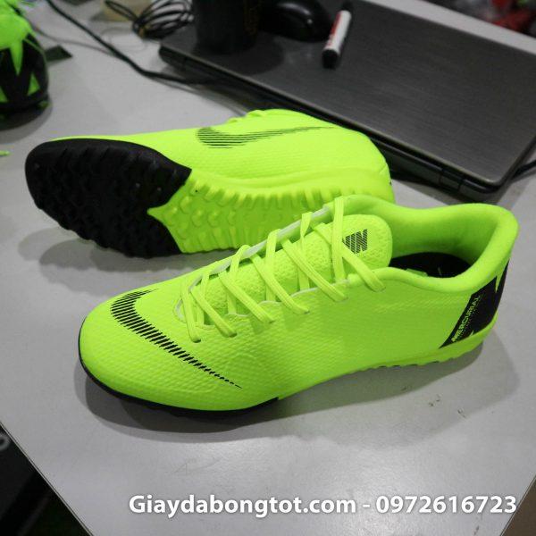 Giay da banh san co nhan tao Nike Mercurial mau xanh non chuoi TF (2)