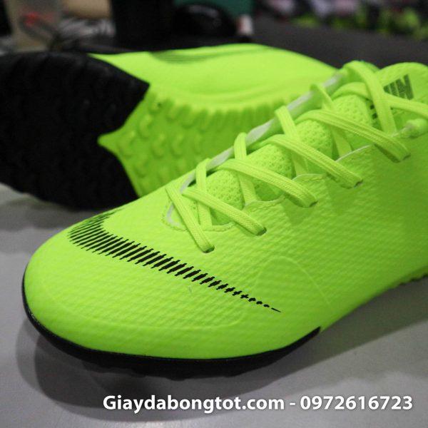 Giay da banh san co nhan tao Nike Mercurial mau xanh non chuoi TF (3)