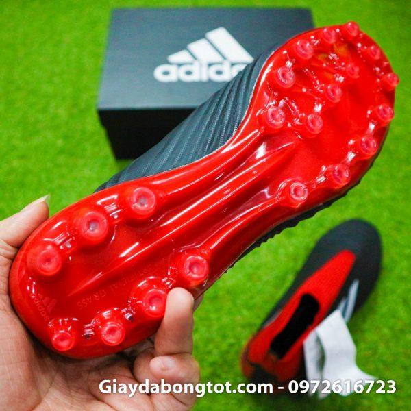 Giay da bong khong day Adidas Predator 18+ dinh AG mau do den (1)