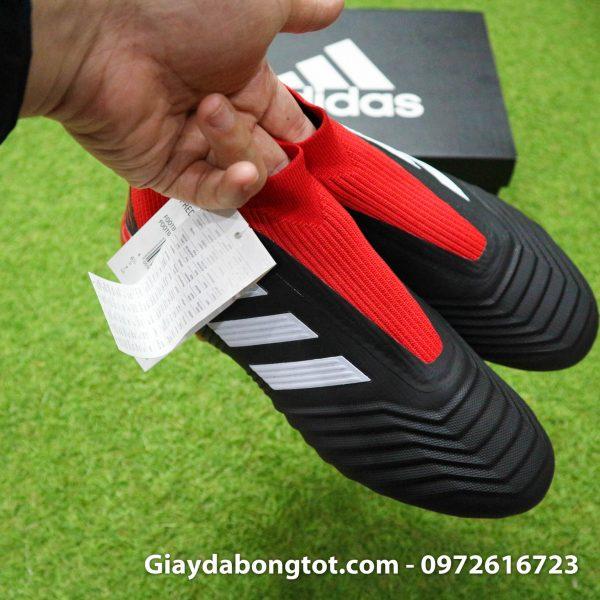 Giay da bong khong day Adidas Predator 18+ dinh AG mau do den (11)
