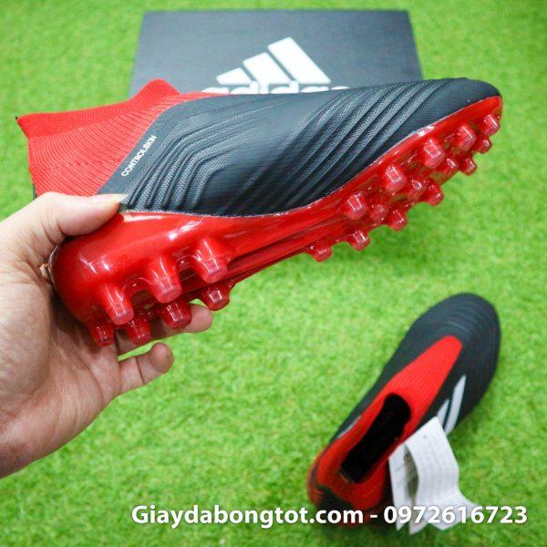 Giay da bong khong day Adidas Predator 18+ dinh AG mau do den (12)