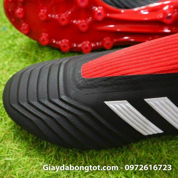 Giay da bong khong day Adidas Predator 18+ dinh AG mau do den (3)
