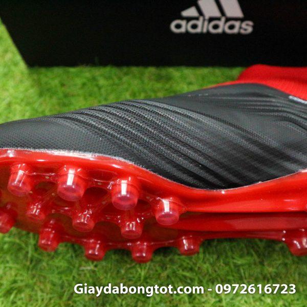 Giay da bong khong day Adidas Predator 18+ dinh AG mau do den (4)