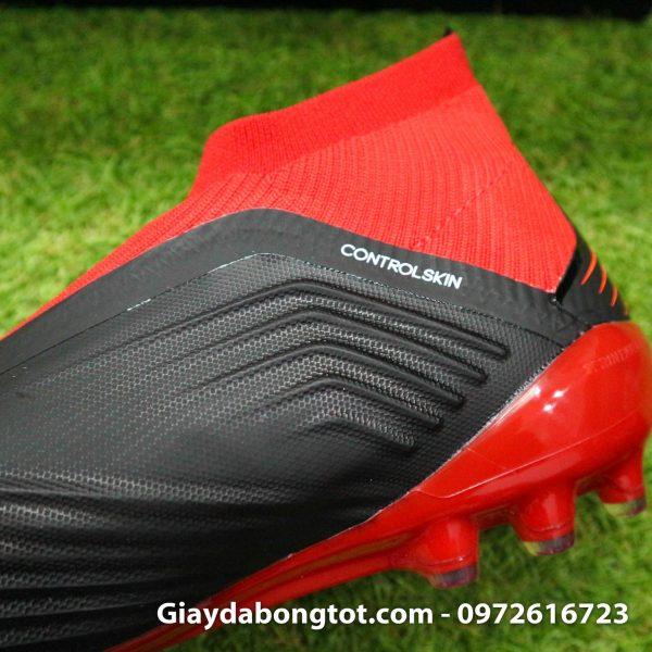 Giay da bong khong day Adidas Predator 18+ dinh AG mau do den (7)
