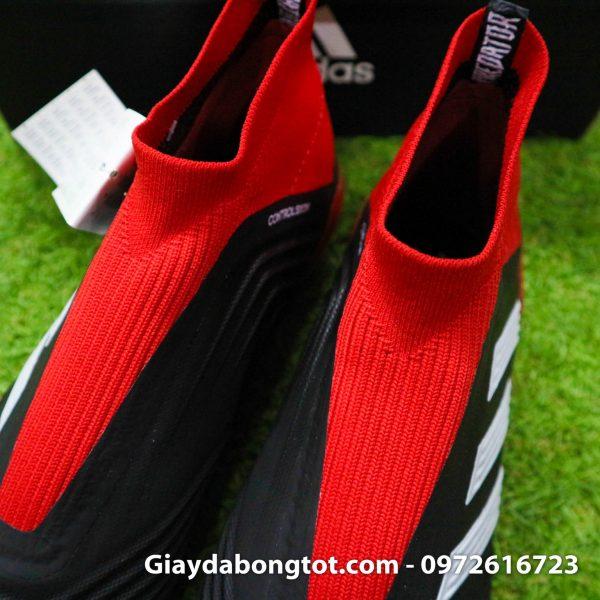 Giay da bong khong day Adidas Predator 18+ dinh AG mau do den (8)