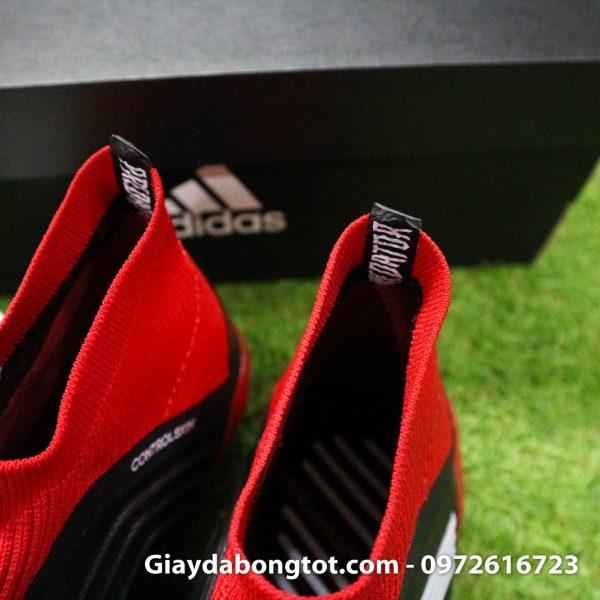 Giay da bong khong day Adidas Predator 18+ dinh AG mau do den (9)