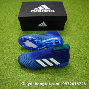 Giay da banh khong day Adidas Predator 18+ FG xanh duong 2019 (2)