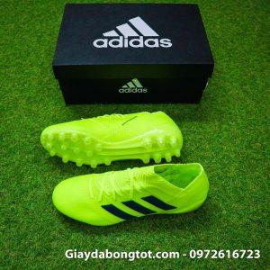 Giay da banh san co nhan tao Adidas Nemeziz 18.1 mau xanh chuoi dinh AG (2)