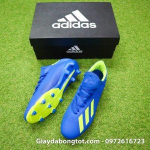 Giay da banh sieu nhe Adidas X18.3 FG xanh duong 178g (2)