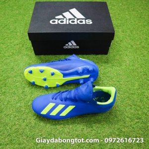 Giay da banh sieu nhe Adidas X18.3 FG xanh duong 178g (4)
