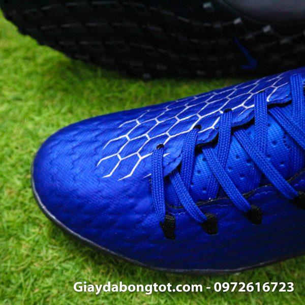 Giay dinh dam TF Nike Hypervenom Phelon 3 TF xanh duong den 2019 (3)
