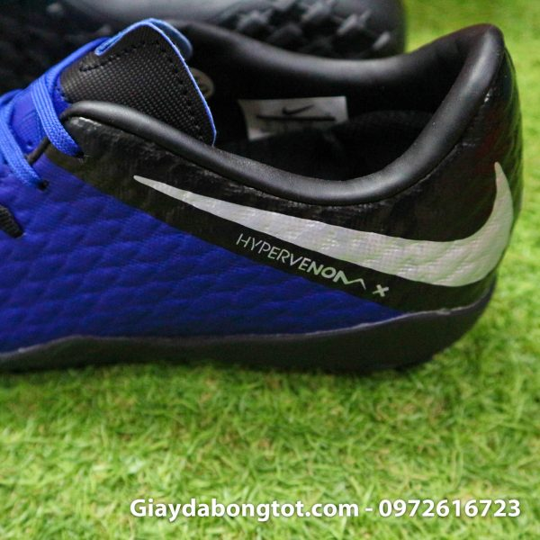 Giay dinh dam TF Nike Hypervenom Phelon 3 TF xanh duong den 2019 (4)