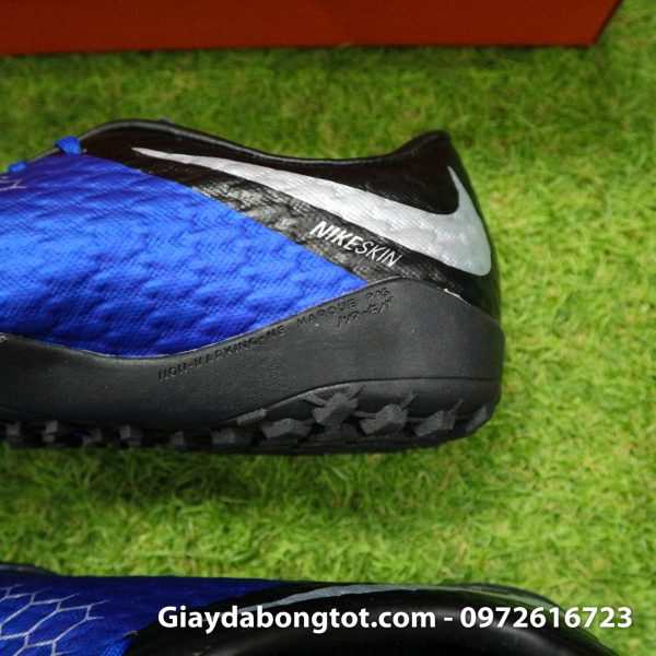 Giay dinh dam TF Nike Hypervenom Phelon 3 TF xanh duong den 2019 (5)