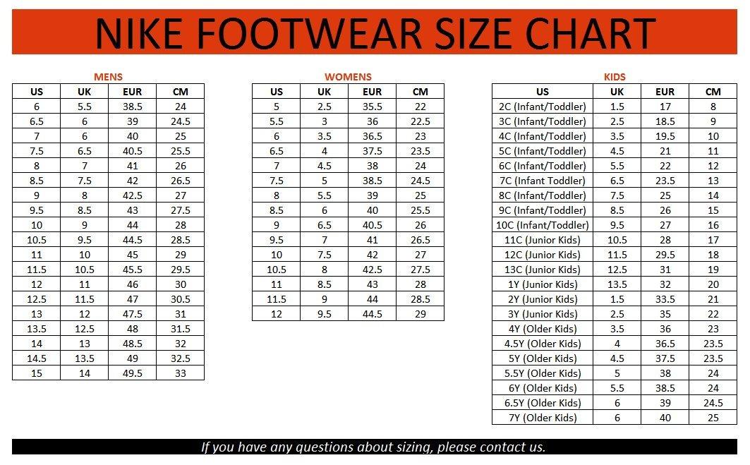 Bảng quy đổi size giày đá bóng Nike chính xác nhất