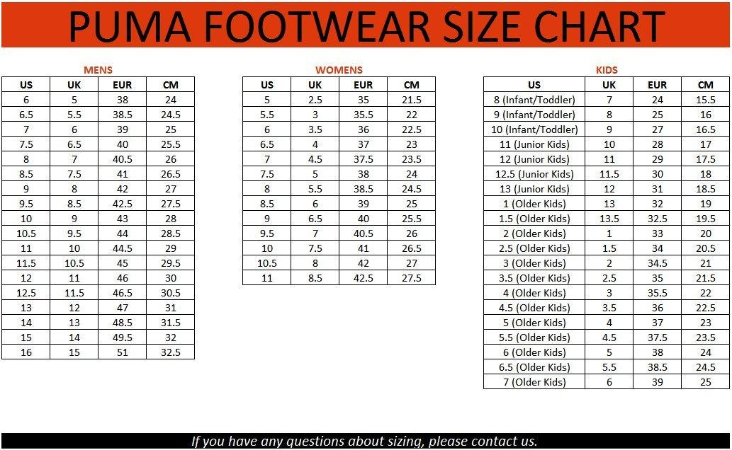 Bảng quy đổi size giày bóng đá Puma chính xác nhất