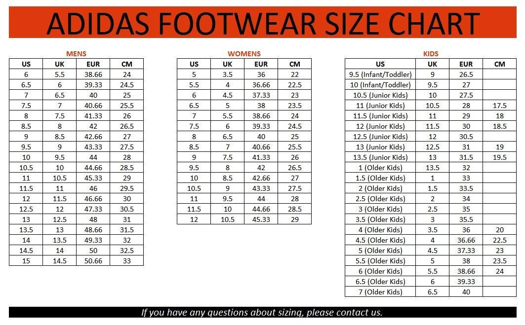 Bảng quy đổi size giày đá banh Adidas chính xác nhất