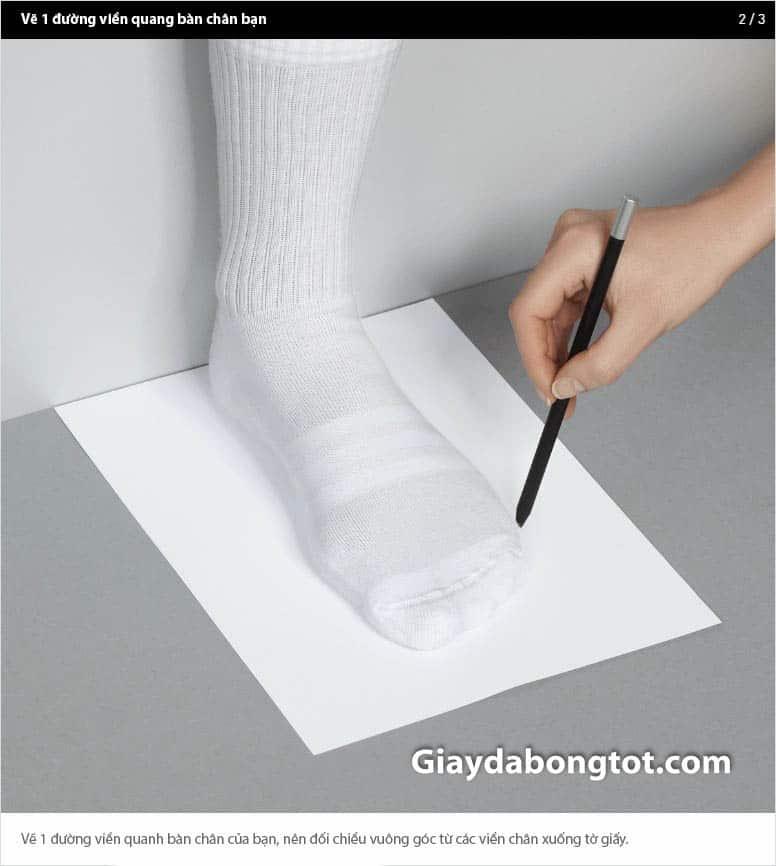 Cách đo kích thước từ gót đến mũi chân chuẩn nhất 2-2