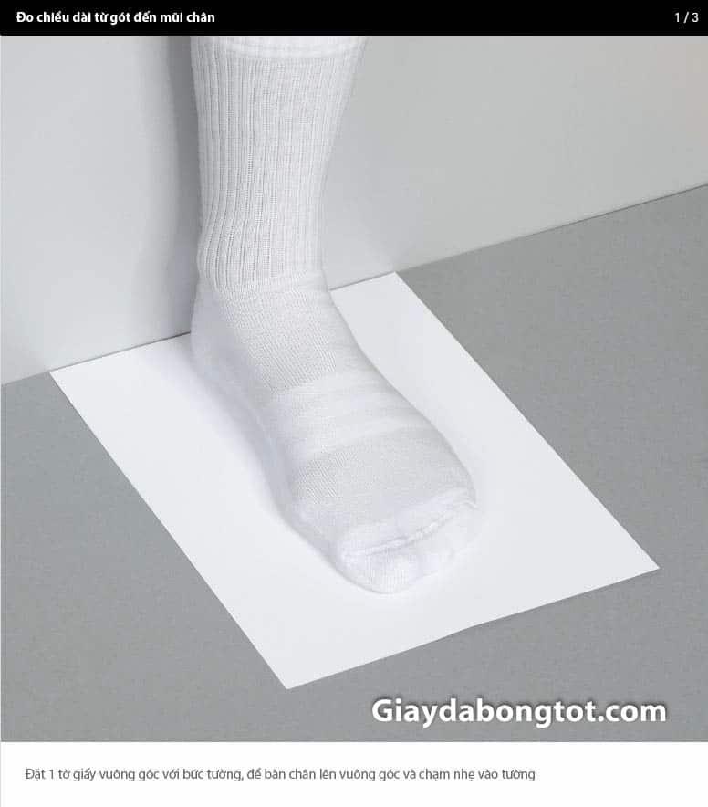 Cách đo kích thước từ gót đến mũi chân chuẩn nhất-2