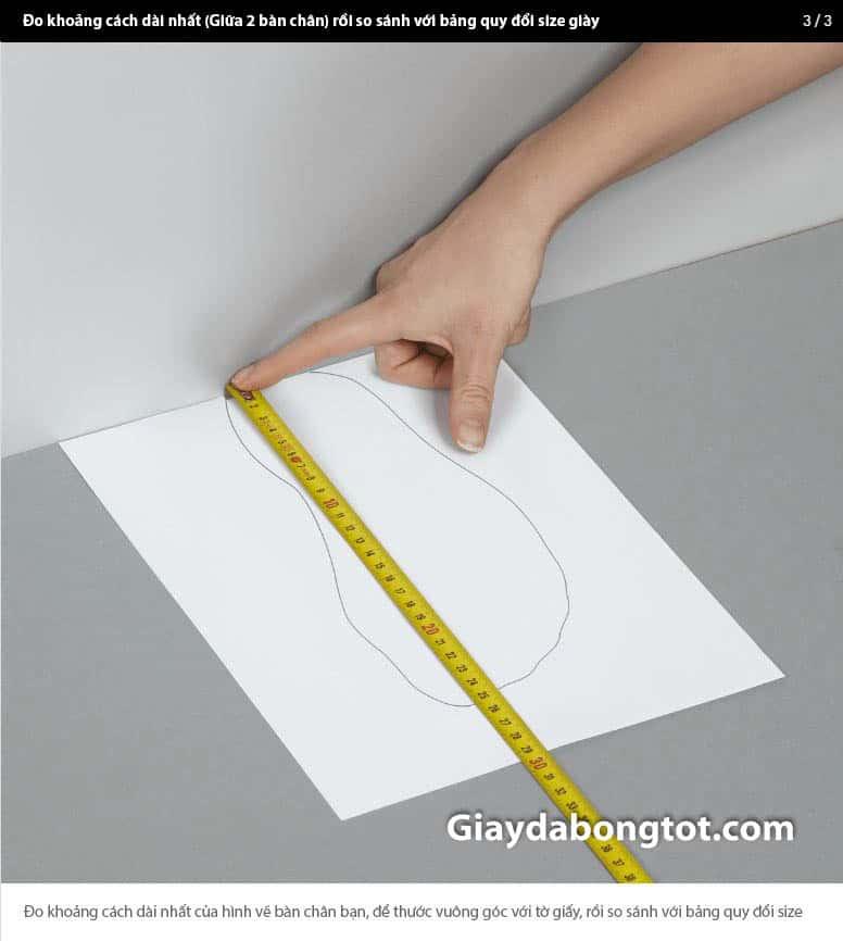 Cách đo kích thước từ gót đến mũi chân chuẩn nhất 3-2