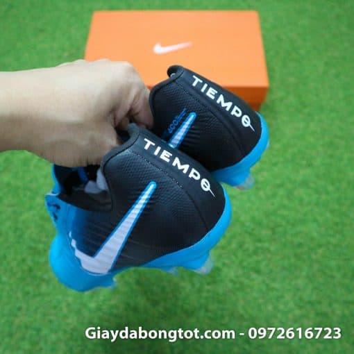 Giày đá bóng Nike Tiempo Legend VII lười gà liền màu xanh dương gót đen (1)