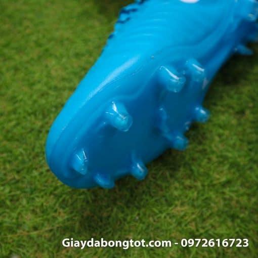 Giày đá bóng Nike Tiempo Legend VII lười gà liền màu xanh dương gót đen (4)