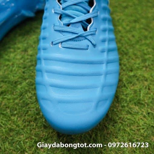Giày đá bóng Nike Tiempo Legend VII lười gà liền màu xanh dương gót đen (5)