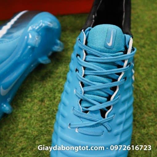 Giày đá bóng Nike Tiempo Legend VII lười gà liền màu xanh dương gót đen (6)