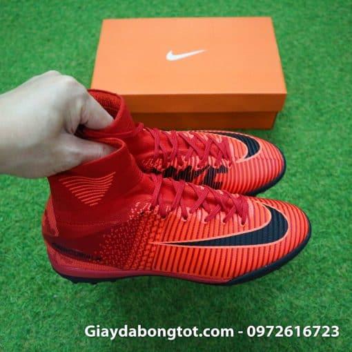 Giày đá bóng Nike cao cổ Mercurial X Proximo TF màu Lửa Đỏ (Lửa và Băng) (1)