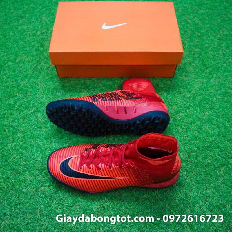 Giày đá bóng Nike cao cổ Mercurial X Proximo TF màu Lửa Đỏ (Lửa và Băng) (2)