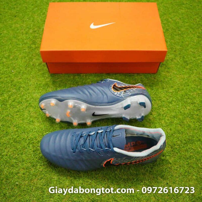 Giày đá bóng hợp chân bè Nike Tiempo FG màu xám ghi mới 2019 (2)