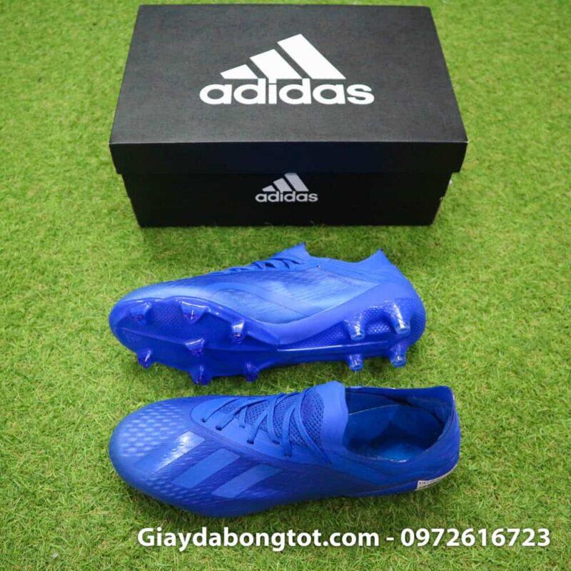 Giày đá bóng sân cỏ tự nhiên Adidas X18.1 FG màu xanh dương toàn thân cực đẹp