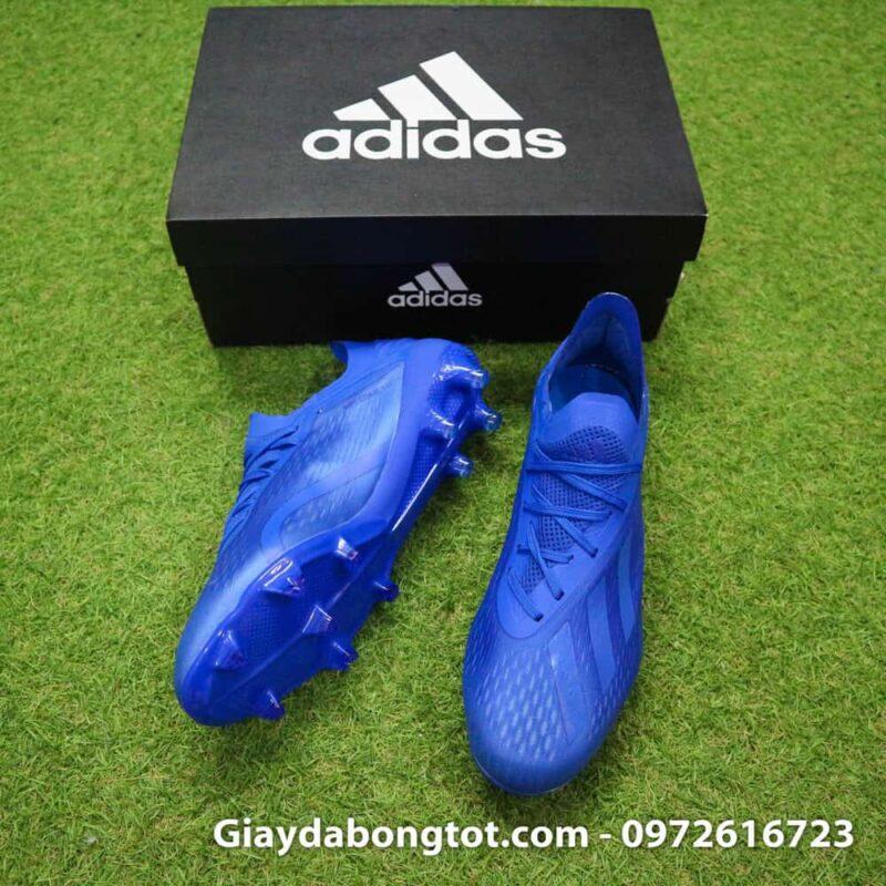 Giày đá bóng nhẹ Adidas X18.1 FG Xanh Dương full (3)