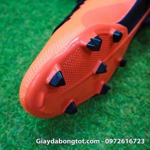 Giày đá bóng siêu nhẹ Adidas X18.3 FG cam đen da êm mềm (4)
