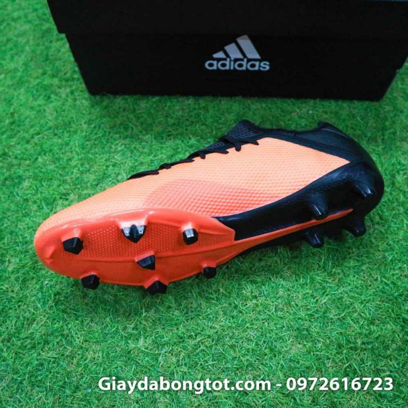 Giày đá bóng siêu nhẹ Adidas X18.3 FG cam đen da êm mềm (6)