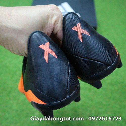 Giày đá bóng siêu nhẹ Adidas X18.3 FG cam đen da êm mềm (8)