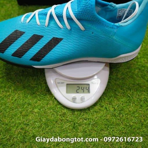 Giày sân cỏ nhân tạo Adidas X19.3 TF màu xanh dương nhạt vạch đen (1)