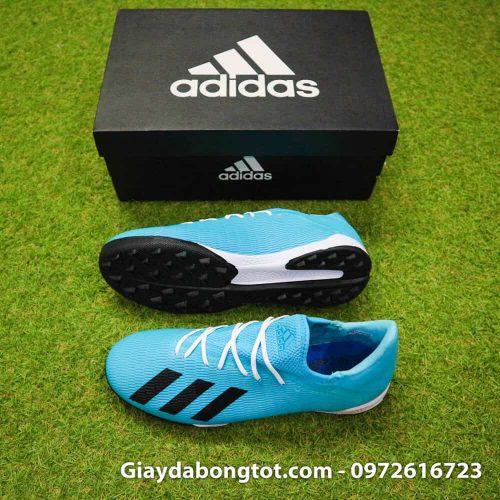 Giày sân cỏ nhân tạo Adidas X19.3 TF màu xanh dương nhạt vạch đen (2)