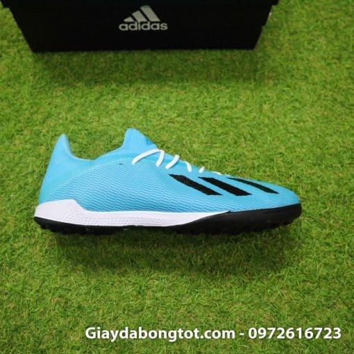 Giày sân cỏ nhân tạo Adidas X19.3 TF màu xanh dương nhạt vạch đen (6)