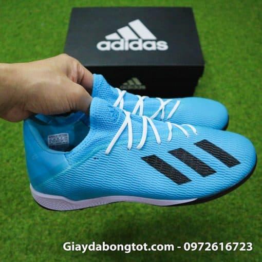 Giày sân cỏ nhân tạo Adidas X19.3 TF màu xanh dương nhạt vạch đen (7)