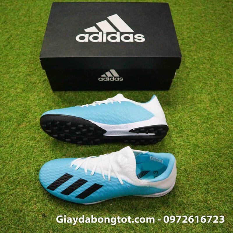 Giay bong da Adidas sieu nhe Adidas X19.3 TF trang xanh duong nhat (2)