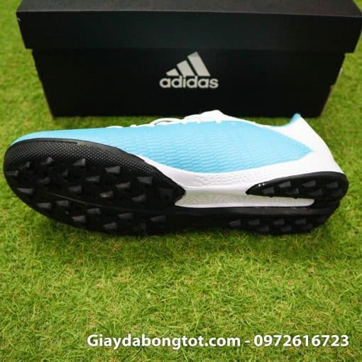 Giay bong da Adidas sieu nhe Adidas X19.3 TF trang xanh duong nhat (3)
