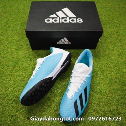 Giay bong da Adidas sieu nhe Adidas X19.3 TF trang xanh duong nhat (4)