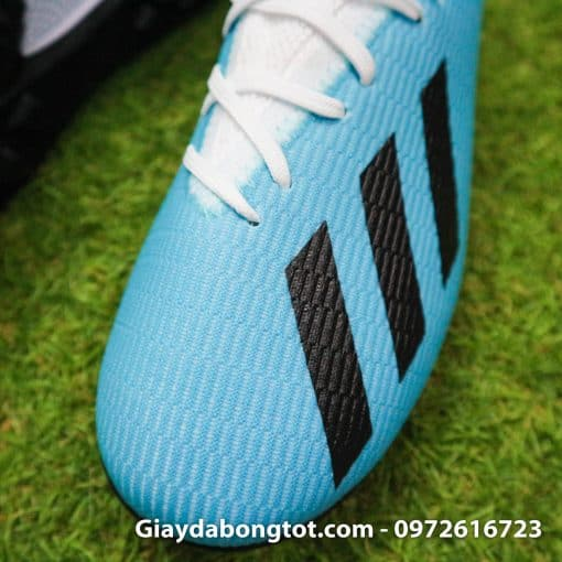 Giay bong da Adidas sieu nhe Adidas X19.3 TF trang xanh duong nhat (5)