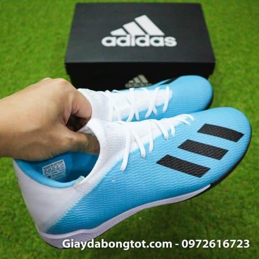 Giay bong da Adidas sieu nhe Adidas X19.3 TF trang xanh duong nhat (7)