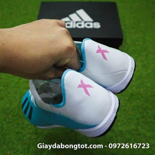 Giay bong da Adidas sieu nhe Adidas X19.3 TF trang xanh duong nhat (8)