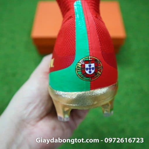 Giay bong da Nike cao co Mercurial Superfly V CR7 mau do ao dau Bo Dao Nha (10)