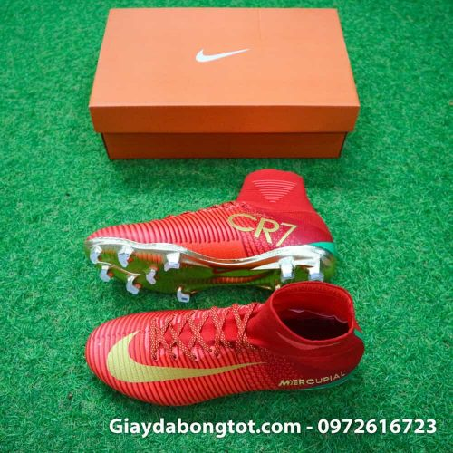Giay bong da Nike cao co Mercurial Superfly V CR7 mau do ao dau Bo Dao Nha (2)