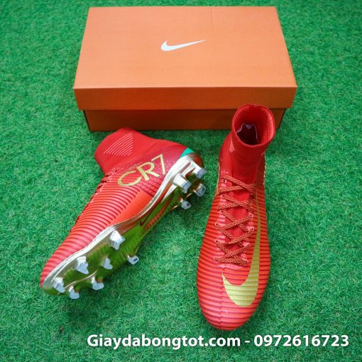 Giay bong da Nike cao co Mercurial Superfly V CR7 mau do ao dau Bo Dao Nha (3)