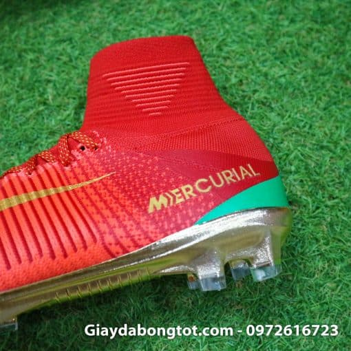 Giay bong da Nike cao co Mercurial Superfly V CR7 mau do ao dau Bo Dao Nha (6)