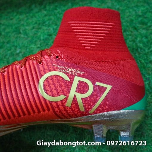 Giay bong da Nike cao co Mercurial Superfly V CR7 mau do ao dau Bo Dao Nha (7)
